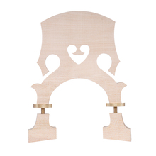 Standard Maple Bridge Replacement Part for 3/4 Size Double Bass Adjustable Upright Bass Bridge