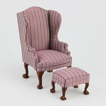 Dollhouse 1/12 Scale Miniature furniture living room Cloth chair And a footstool
