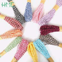 2017 Hot 2mm 18meter/roll Paper Cord Rope  2 Colors Twisted String for DIY Craft Jewelry Making & Gift Wrapping Tags Hanging