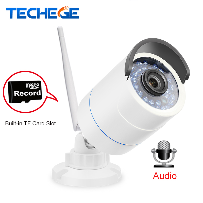 Techege 1280*720P WIFI IP Camera HD 1.0MP Auido record Waterproof Night Vision Outdoor TF Card Slot CCTV Camera Motion Detection<br>