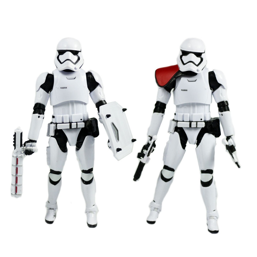 2pcs Star Wars Black Series Riot Control Stormtrooper + Order Stormtrooper Figures no Box Hasbro0116(China (Mainland))