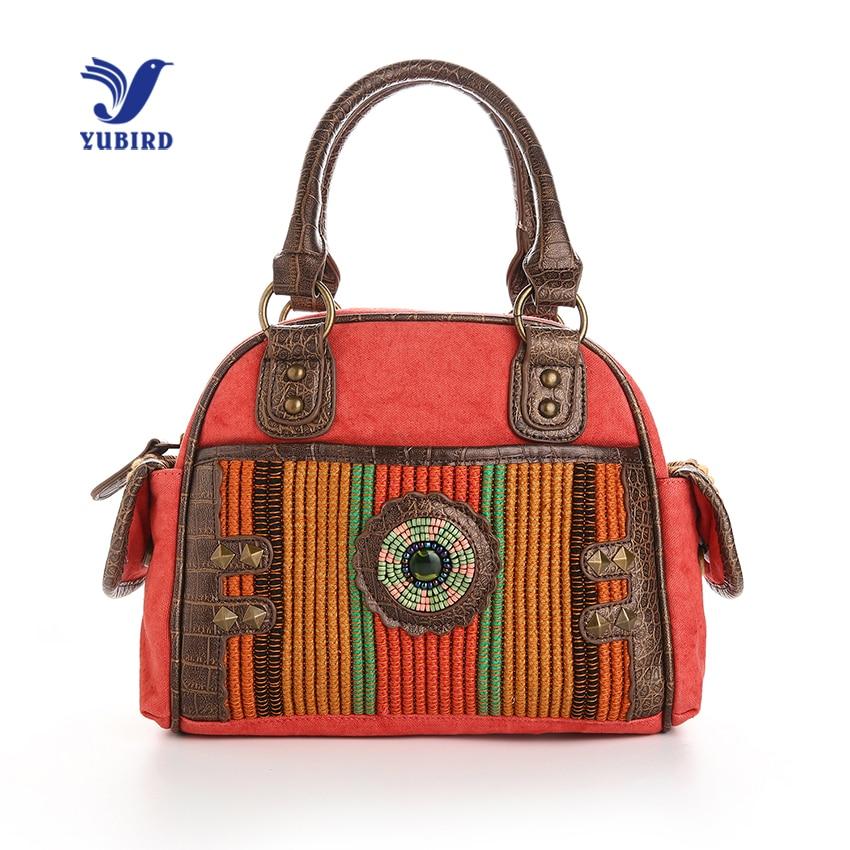 YUBIRD Designer Canvas Top Handle Bags Women Handbags Ladies Hand Bags Casual Weekend Shell Bag High Quality bolsa feminina<br>