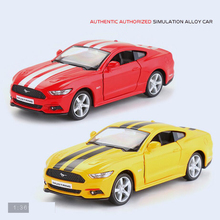 Hot 1:36 scale wheels diecast sports cars simulation fords mustang metal model pull back alloy toys collection for kids gifts(China)