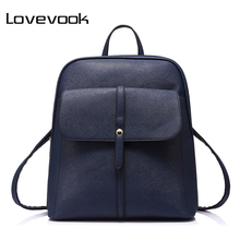 LOVEVOOK brand fashion women backpacks for teenage girls high quality shoulder bag female zipper school bags preppy style 2017(China)