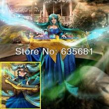 Cos LOL Maven of the Strings Sona Cosplay Costume Clothing Set Female LIPSY Tee Dress Strapless(China)