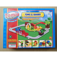 Toys For Boys Baby 1set Thomas And Friends Electric Train Model Toys With Road & Rail System(China)