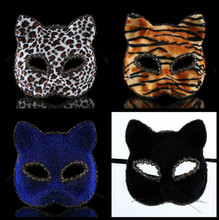 Factory Direct Masquerade Prom Party Mask 2015 Fashion Halloween Mask Animal Cat Face Masks Festive & Party Supplies 5Z-JR044