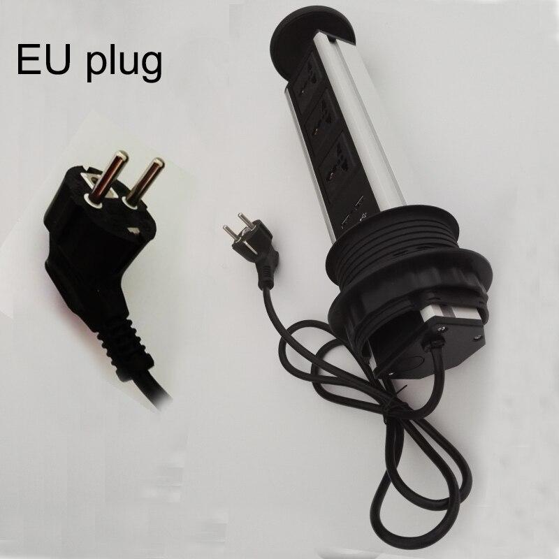 EU plug universal avpower 3universal power+2charge USB conference furniture desktop tabletop socket Outlet kitchen table<br>