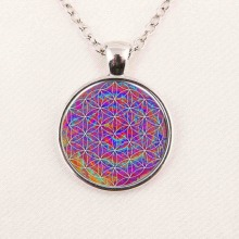 HOT multicolor OM pendant necklace flower of life jewelry mandala statement necklace long necklaces Yoga jewelry Zen jewellery