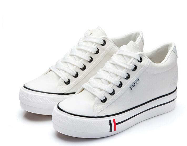Spring and summer casual shoes Thick crust low to help style Canvas shoes within the higher womans shoe<br><br>Aliexpress