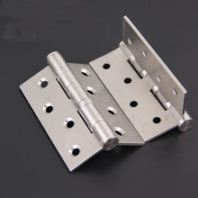 304 stainless steel Flat open door hinge Mute bearing hinges 4pcs