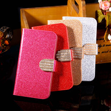 PU Leather Covers Cases For Samsung Galaxy SII I9100 4.3'' S2 GT-I9100 Cases Luxury Bling with Card Holder Durable Shell covers