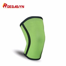 Professional cheap soft neopprene 5-7mm sports knee compression sleeve support for squat(China)