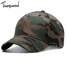 [TIMESWOOD] Camouflage Baseball Cap Men Women Strap Back Hat 6 Panel Summer Camo Adjust Bones 2017 New Casual Fashion Caps(China)