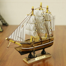 Thanks Giving Day Gift  Wood Sailboat Decoration  Folk Art Style  1 piece