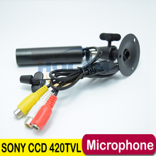 "Audio Mini Bullet Cam 1/3"" Sony CCD 420TVL Outdoor Waterproof Security CCTV mini waterproof Camera 3.6mm lens Support microphone"