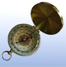 Whole Sale 96pcs/lot Multifunction Flip Copper Compass Pocket Watch With A Luminous Formula Compass For Muslim Prayer