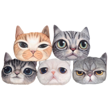 38cm*34cm Home textiles Cushion Plush Pillow 3D Cat Pillow Stuffed Pillow For Girl Confortable And Soft Low Price Creative Gift(China)