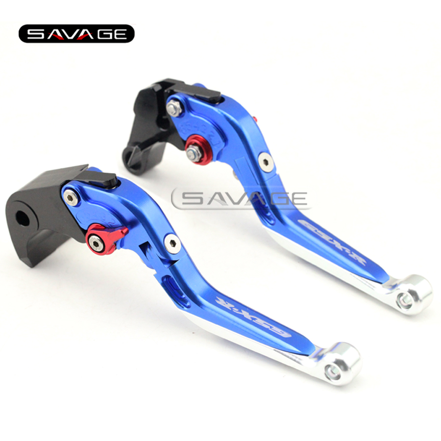 For SUZUKI GSXR 600/750 GSXR600 GSXR750 11-15, GSXR1000 09-16 Motorcycle Adjustable Folding Extendable Brake Clutch Lever Blue<br>