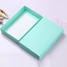 High quality Blue/Pink paper gift packaging cardboard box for Ornaments/Scarf/Tie , 80pcs 20*13*4cm Folding cartons box with lid