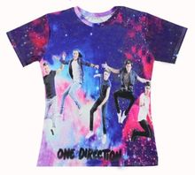 Harajuku Men/Women One Direction 1d t shirts Galaxy T-Shirt harry styles shirt liam payne tee Liam Payne Louis Tomlinson tops(China)