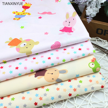 4 pcs 40*50cm Cartoon bear and stars Cotton Fabric for Home Textile Baby Cushions Sewing Fabric Material Telas to Patchwork(China)