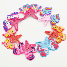 10pcs Cute Animal Hair Clips for girls My little Ponys pig Hair pins Cartoon Kids Ornaments HairGrips hair accessories headdress
