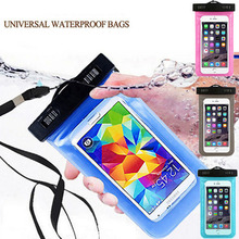 Waterproof Mobile Phone Bags with Strap Dry Pouch Cases Cover For Motorola Moto RAZR D1 XT918 Swimming Case New(China)