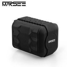 Bluetooth Speaker,Outdoor Portable Waterproof Speaker MARSEE TK200 Wireless column Speaker Super Bass player With Mic TF Card(China)