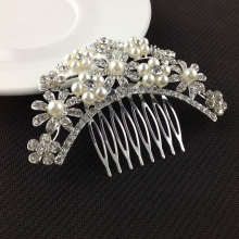 Buy 1 X Fashion Wedding Bride Headdress Hair Combs Crystal Rhinestone Floral Hairpins Hairclips Hair Comb Headwear Hair Accessories for $2.29 in AliExpress store
