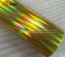 Free shipping Gold  holographic chrome rainbow vinyl film car wrap rainbow sticker with size:1.49x20m/Roll