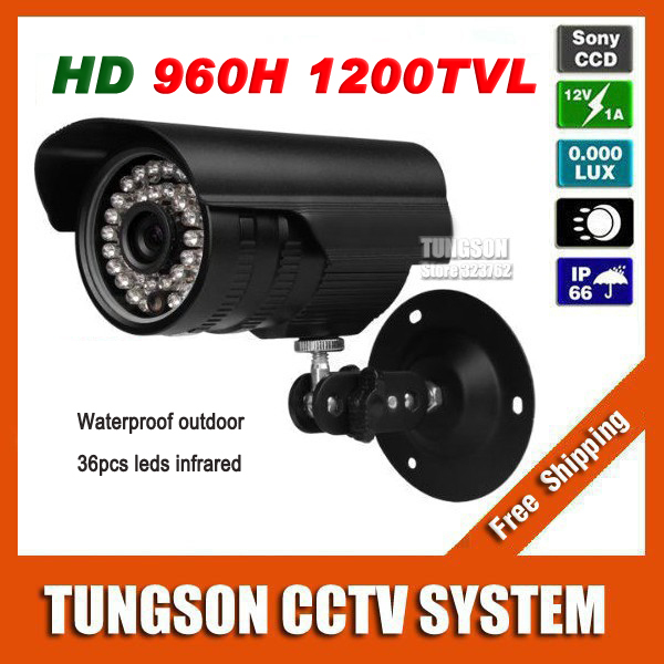 Home Video Surveillance Bullet Sony CCD 960H Effio 1200TVL Outdoor Waterproof 36led Infrared CCTV Camera Security<br>