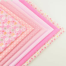Ne Warrivals 100% Cotton Fabric Lovely Pink Color Home Decoration Tissue Patchwork Doll's DIY Toys Quilting Bed Sheet Curtain
