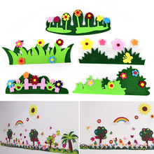 1pcs Cartoon Non-woven Grass Flower Park Decor Accessories Children Bedroom Hanging Wall Stickers Kids Play Tent Props Toy(China)