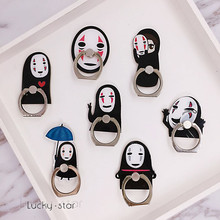 Cute Cartoon No Face Man Universal Smartphone Stand Holder Mobile Phone Finger Ring for All Smart Phone iPhone Accessory Huawei(China)