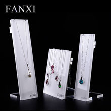 FANXI Free shipping custom China factory necklace jewellery display with metal hook back pendant jewelry exhibitor organizer