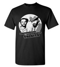 Bud Spencer & Terence Hill LOGO TEE SHIRT NEW BLACK AND WHITE Brand Cotton Men Clothing Male Slim Fit T Shirt