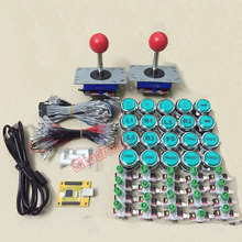 Arcade mame DIY FOR 2 players PC PS/3 2 IN 1 to zippy joystck LED button with 20pcs  icons interface USB 2 player MAME Interface