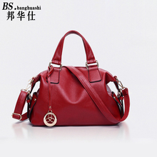 2016 Autumn new Leather Handbags Diagonal Shoulder bag European Style Ladies bag Fashion wild Handbag(China)