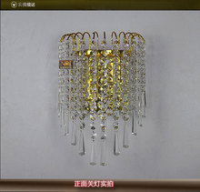 Romantic Crystal led Ceiling Lights Stainless Steel LED lamps bedroom study Crystal led Ceiling Lights