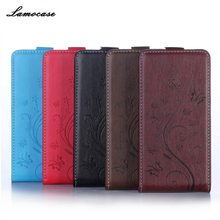 Lamocase Printed Leather Case Filp Wallet Case For HTC Desire 526 526G dual sim 526G Stand Cover Phone Bags For Huawei P9 Lite(China)