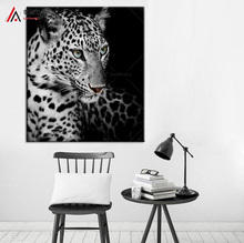 Free Shipping modern wall paintings of animals cheetah leopard home decor painting canvas art prints bedroom decoration pictures(China)