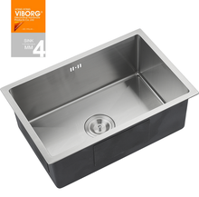 (720 x 400 x 220 mm) VIBORG Deluxe Handmade Extra-thick 304 Stainless Steel Undermount Single Bowl Kitchen Sink(China)