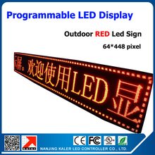 RED Color P10 Outdoor LED Sign Board Waterproof Programmable Display Scrolling Message Advertising Business Sign for Hotel Bank(China)