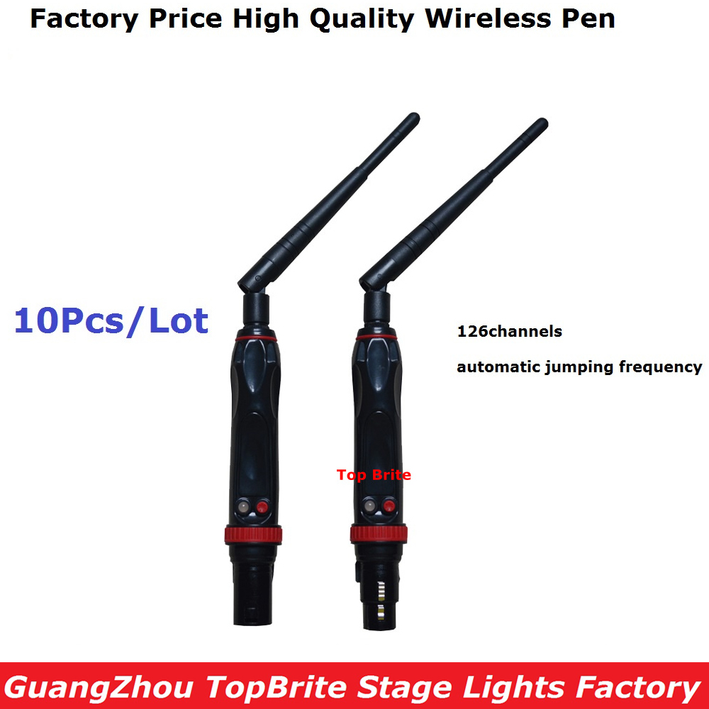 10XLot 2.4G ISM 126 Chs DMX512 Wireless Male Female 3 Pins XLR Transmit Receiver Device For LED Lighting Stage Moving Head Light<br>