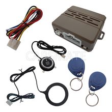 Universal RFID Car Alarm System With Finger Touch Engine Start Stop Push Button And 2 Immobilizer Transponders