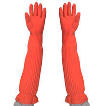 Waterproof Household Gloves Warm Dishwashing Glove Water Dust Stop Cleaning Long Rubber Gloves Housework Kitchen Tools