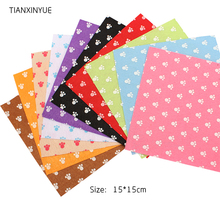 TIANXINYUE 10Pcs/lot 15*15cm foot fabric 1 MM Thick Polyester Nonwoven Felt Fabric Home Decor Sewing Dolls Crafts(China)