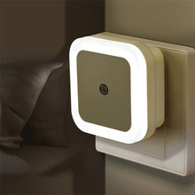 Buy US EU Mini LED Night Light Control Auto Sensor Baby Bedroom Lamp Square White Yellow AC110-220V LED Night Light Baby P25 for $1.20 in AliExpress store