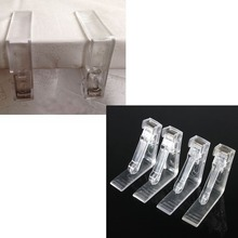4x Clear Plastic Transparent Tablecloth Tables Useful Clips Holder Cloth Clamps Party Picnic Wedding Prom